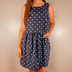 Maison Jules Polka Dot Dress Size Medium